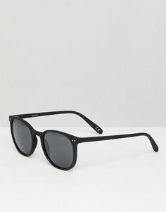 Черные матовые квадратные солнцезащитные очки с дымчатыми стеклами ASOS - Черный