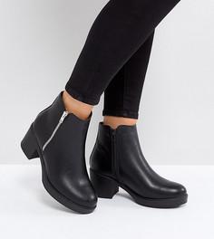 Ботинки для широкой стопы на молнии Truffle Collection - Черный