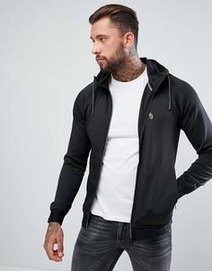 Черная трикотажная куртка с капюшоном Luke Sport Dixon Tricot - Черный