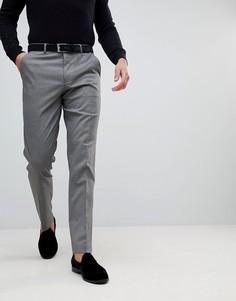Серые строгие брюки узкого кроя ASOS - Серый