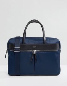 Портфель с отделением для ноутбука Knomo Mayfair Hanover - Темно-синий