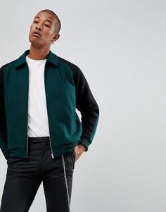 Университетская куртка бутылочного зеленого цвета ASOS - Зеленый
