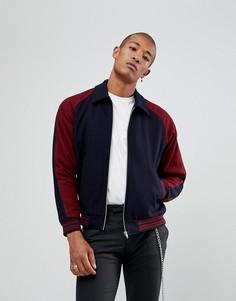 Бордовая университетская куртка ASOS - Красный