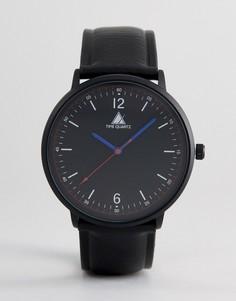 Черные часы со стрелками красного и синего цвета ASOS - Черный