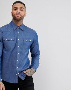 Рубашка в стиле вестерн Dead Vintage - Синий