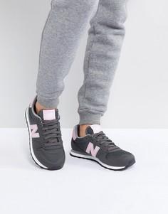Серо-розовые кроссовки New Balance 500 - Серый