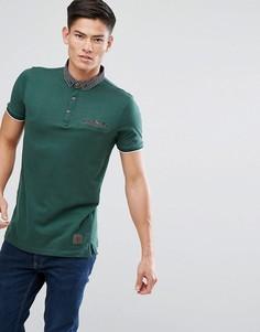 Поло с воротником и карманом контрастного цвета Brave Soul - Зеленый