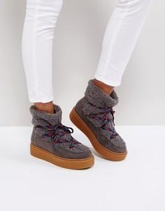Зимние сапоги со шнуровкой ASOS ARDELL - Серый