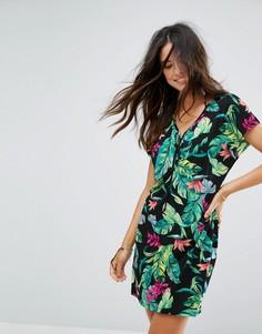 Пляжное платье с пальмовым принтом Seafolly Tree House - Мульти