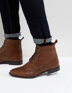 Светло-коричневые ботинки из искусственной кожи ASOS - Рыжий