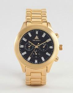 Золотистые часы со стразами ASOS - Золотой