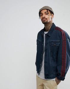 Синяя джинсовая оверсайз-куртка с отделкой ASOS - Синий