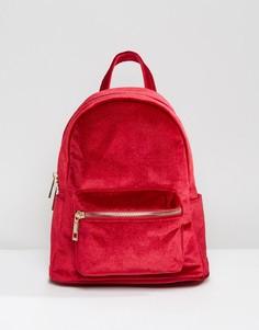 Бархатный мини-рюкзак Qupid - Красный