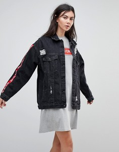 Джинсовая куртка оверсайз Kubban - Черный