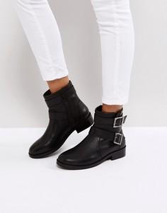 Кожаные байкерские ботинки ASOS ALLEN - Черный