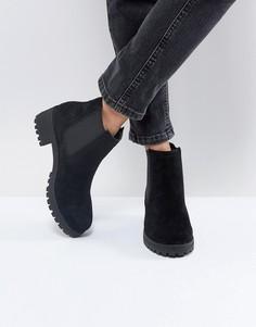 Замшевые ботинки челси ASOS RHEA - Черный