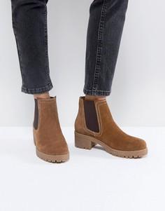 Замшевые ботинки челси ASOS RHEA - Рыжий
