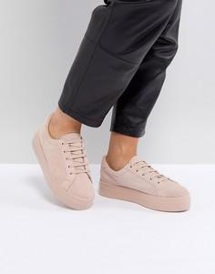 Замшевые кроссовки на шнуровке ASOS DAY LIGHT - Розовый