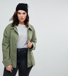 Хлопковая куртка ASOS CURVE - Зеленый