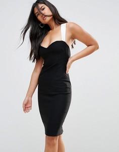 Платье-футляр с контрастными бретелями Vesper - Мульти