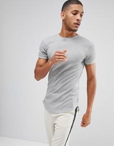 Обтягивающая футболка с закругленным краем Bellfield - Серый