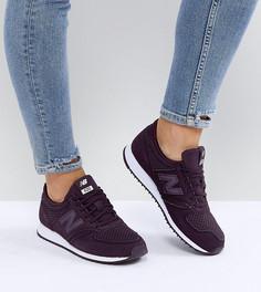 Бордовые кроссовки из перфорированной замши New Balance 420 - Красный