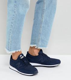 Темно-синие замшевые кроссовки New Balance 420 - Темно-синий
