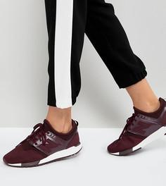 Бордовые кроссовки New Balance 247 - Красный