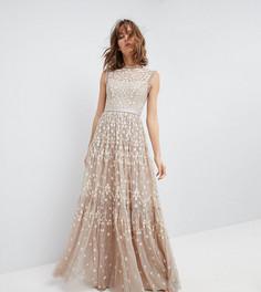 Платье макси с отделкой Needle & Thread - Бежевый