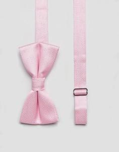 Галстук-бабочка в горошек металлик 7X - Розовый