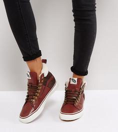 Высокие кроссовки с меховой вставкой на щиколотке Vans - Мульти
