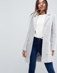 Фактурное узкое пальто ASOS - Серый