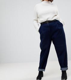 Суженные книзу джинсы цвета индиго с рельефными швами ASOS CURVE - Синий