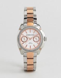 Розово-золотистые часы DyrbergKern - Серебряный