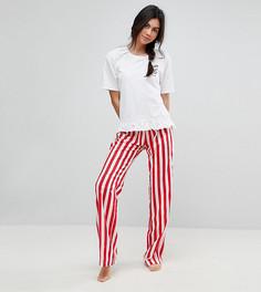 Пижамные брюки и футболка с вышивкой Espresso Yourself ASOS TALL - Мульти