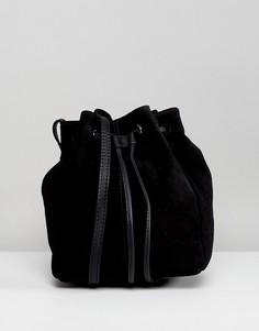 Маленькая замшевая сумка дафл ASOS - Черный