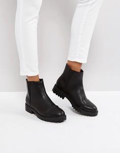 Ботинки челси на плоской подошве ASOS ADMIRER - Черный