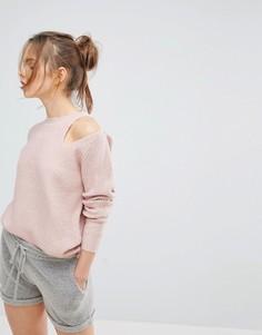 Джемпер с вырезами на плечах Micha Lounge - Розовый