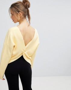 Джемпер с запахом на спине Micha Lounge - Желтый