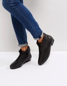 Кожаные ботинки на шнуровке ASOS AUTUMN - Черный