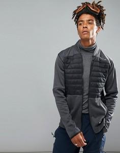 Черно-серая стеганая трикотажная куртка ONeill Activewear Kinetic - Черный O`Neill