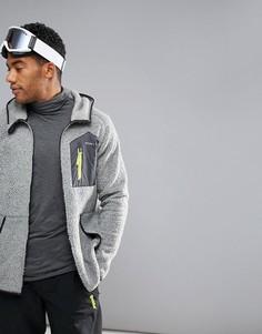 Серая куртка из искусственного меха с капюшоном ONeill Activewear Kinetic - Серый O`Neill