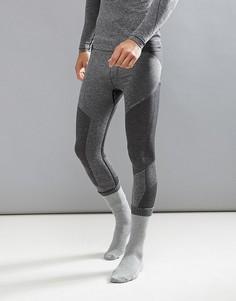 Черные меланжевые бесшовные леггинсы ONeill Activewear Hyperdry - Черный O`Neill