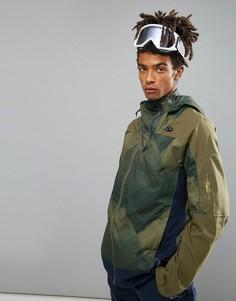Горнолыжная куртка с зеленым принтом ONeill Jeremy Jones - Зеленый O`Neill