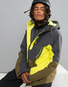 Желто-черная горнолыжная куртка с принтом ONeill Suburbs - Желтый O`Neill