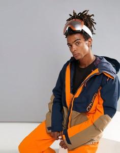 Сине-оранжевая горнолыжная куртка с принтом ONeill Suburbs - Темно-синий O`Neill