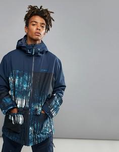 Горнолыжная куртка с принтом ONeill Patrol Woodland - Темно-синий O`Neill