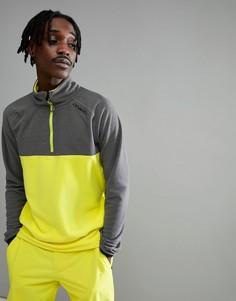 Желто-серый флисовый свитшот с молнией до груди ONeill Ventilator - Желтый O`Neill