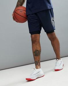 Темно-синие шорты 2 в 1 adidas Basketball Dame CE7350 - Темно-синий