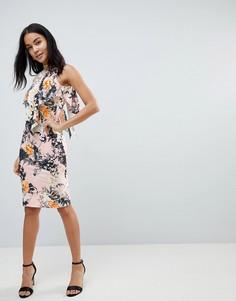 Платье миди с цветочным принтом Love - Мульти